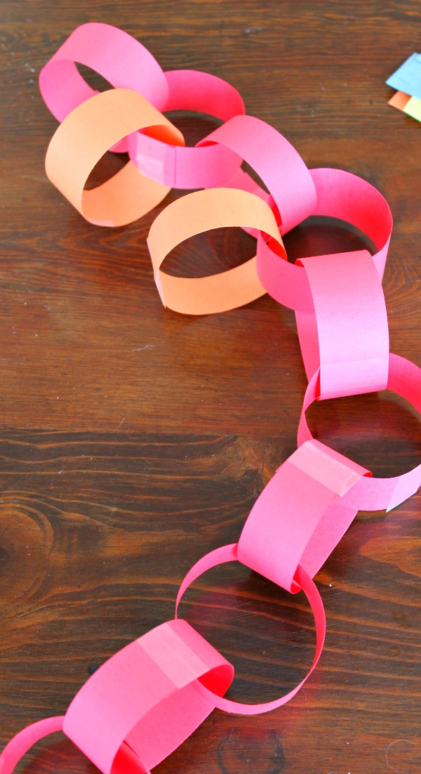 paper chain rainbow 2