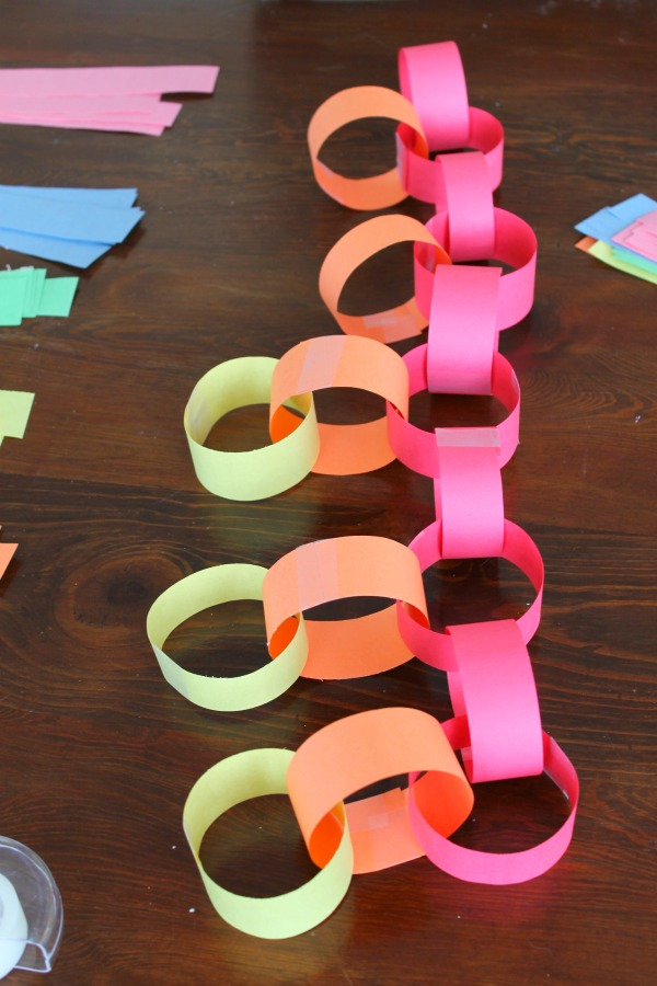 paper chain rainbow 3