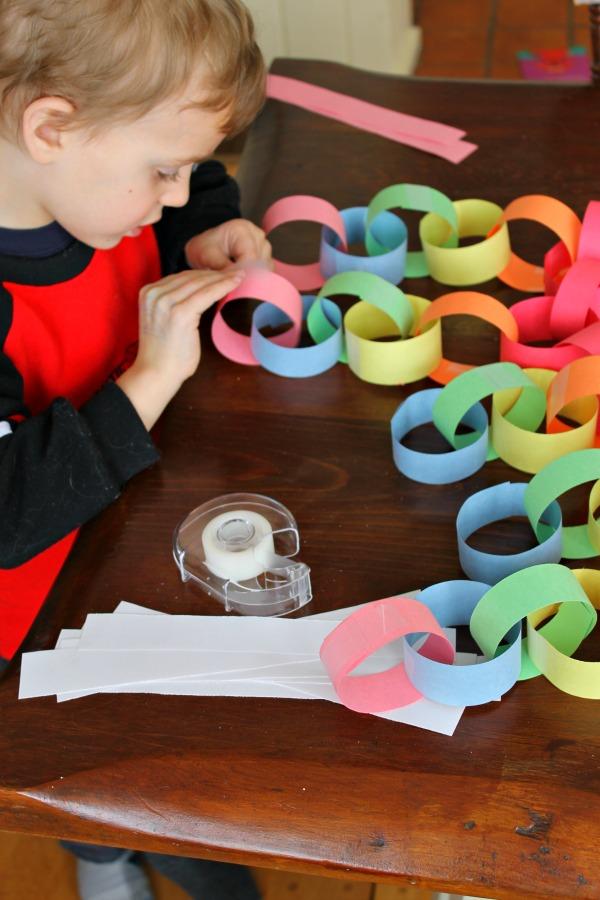 paper chain rainbow 5