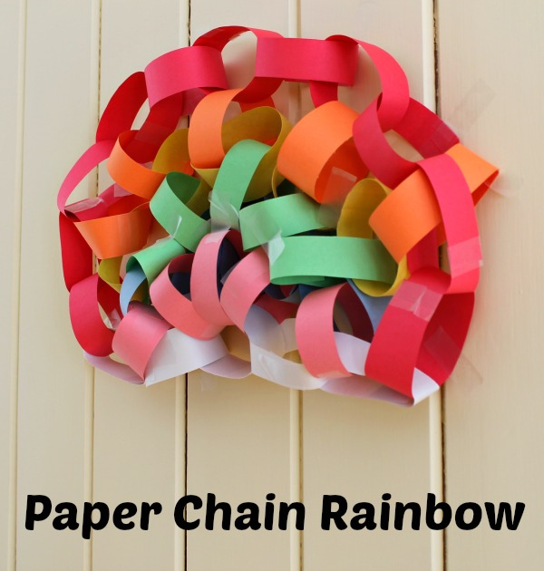paper chain rainbow text