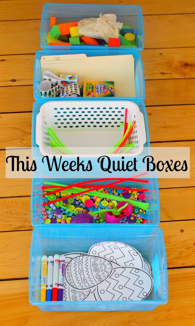 quiet boxes activities for kids