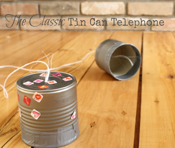 How to make the classic tin can telephone!