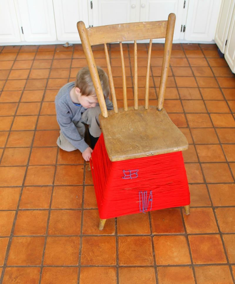 yarn bombed chair 5