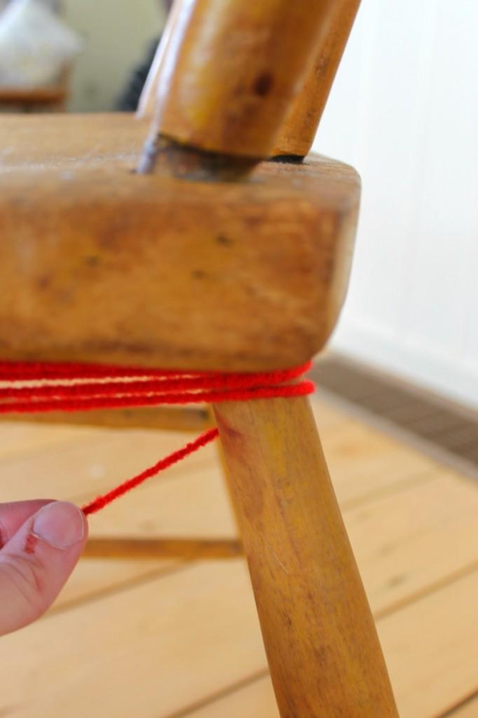 yarn bombed chair 6