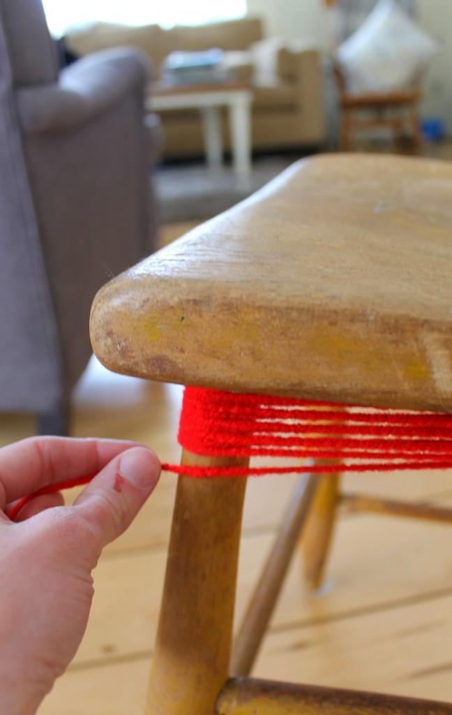 yarn bombed chair 7
