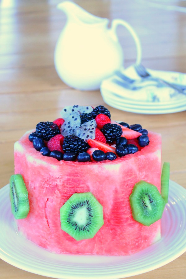Healthy and pretty watermelon cake