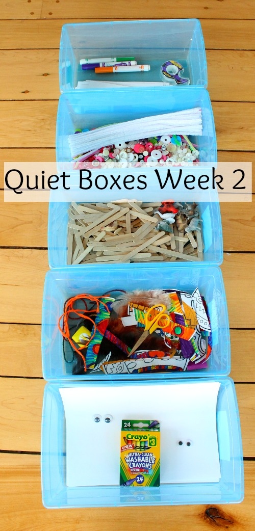Another week of quiet box ideas for kids!