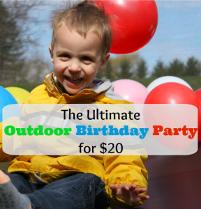 outdoor birthday party ideas for $20
