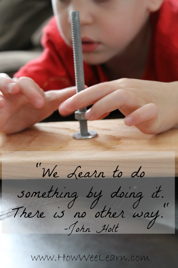 we learn to do something