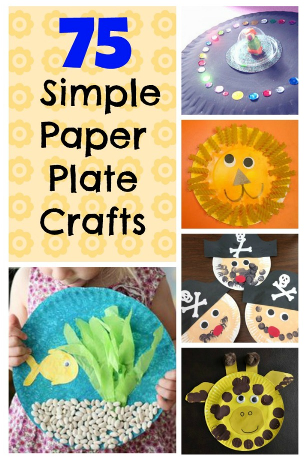 The best kids crafts using paper plates! So many simple and cute paper plate craft ideas. #crafts #kids #paperplate #fun #parenting #DIY
