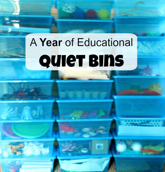 An entire year of educational quiet boxes!
