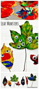 Fall crafts for kids - leaf monsters