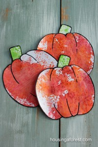 Fall crafts for kids - scented pumpkins