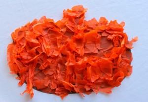 Fall crafts for kids - tissue paper fall pumpkin