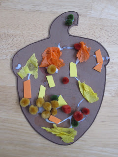 Fall crafts for preschoolers - simple fall collages