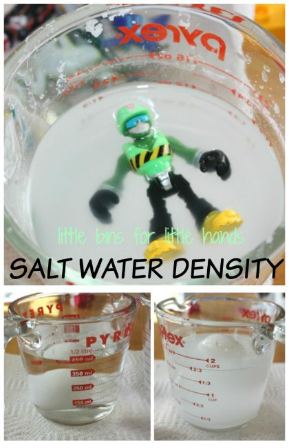 Science experiments for kids - salt water density