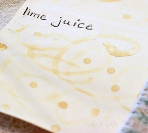 Science experiments for preschoolers - invisible ink