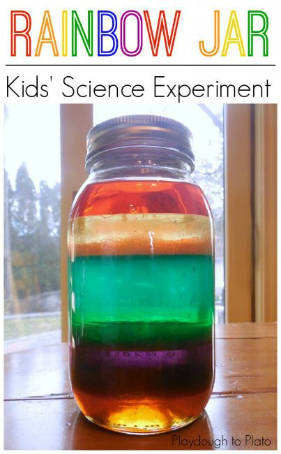 Science experiments for preschoolers - rainbow jar