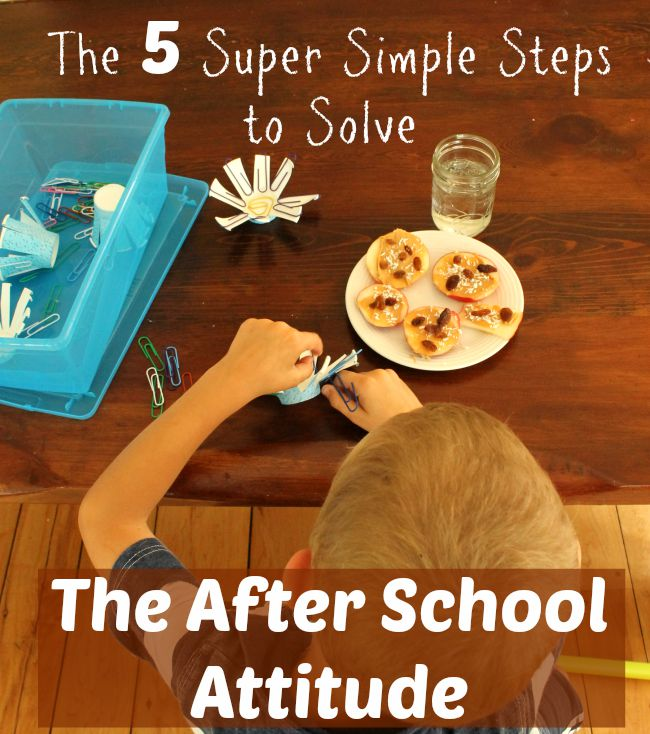 solving the after school attitude