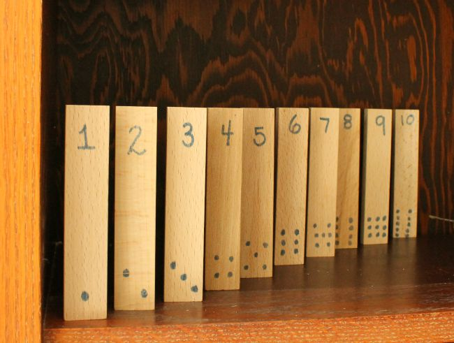science math shelf numbers
