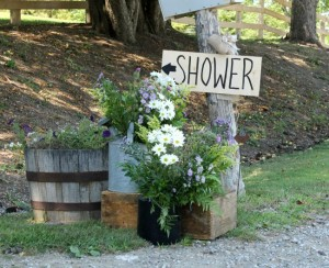 a rustic country wedding shower