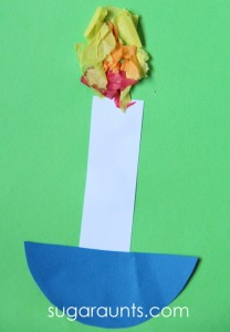 Nursery rhyme crafts for toddlers - jack be nimble candlestick