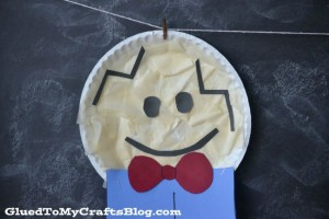Nursery rhyme crafts for toddlers - paper plate Humpty Dumpty