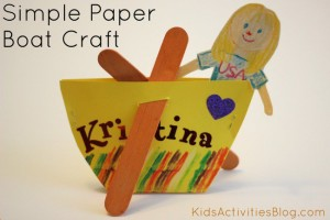 Nursery rhyme crafts for toddlers - row row row your boat