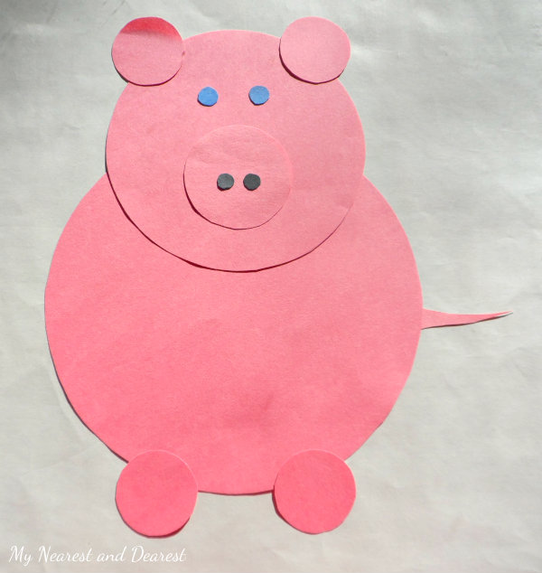 Nursery Rhyme Crafts For Toddlers Shape Pig