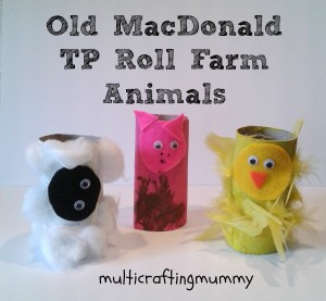 Nursery rhyme crafts for toddlers - tp roll farm animals