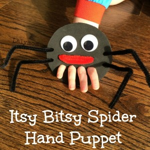 Nursery rhymes crafts - spider puppet