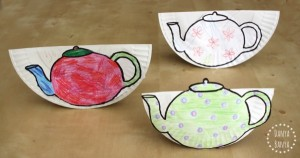 Nursery rhymes crafts - tipping teapots