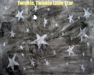 Nursery rhymes crafts - twinkle twinkle little star craft