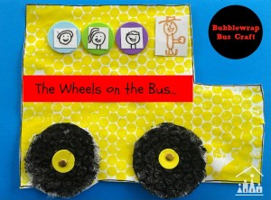 Nursery rhymes crafts - wheels on the bus