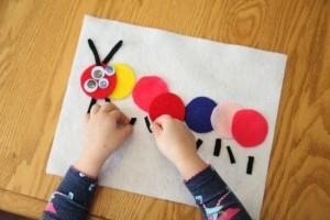 Quiet activities for toddlers - felt caterpillar