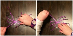 Quiet activities for toddlers - shrinky dink pull