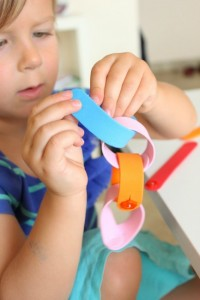 Quiet activities for two year olds - foam button sticks