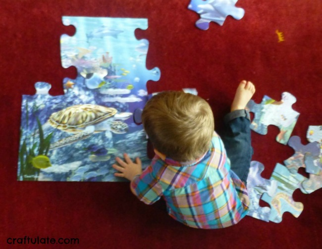 Quiet activities for two year olds - puzzles