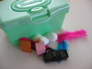 Quiet activities for two year olds - touch box