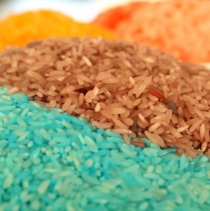 2 Step VIBRANT Rainbow Rice {A Photo on Friday}