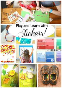 Super fun ways to Play and Learn with STICKERS!