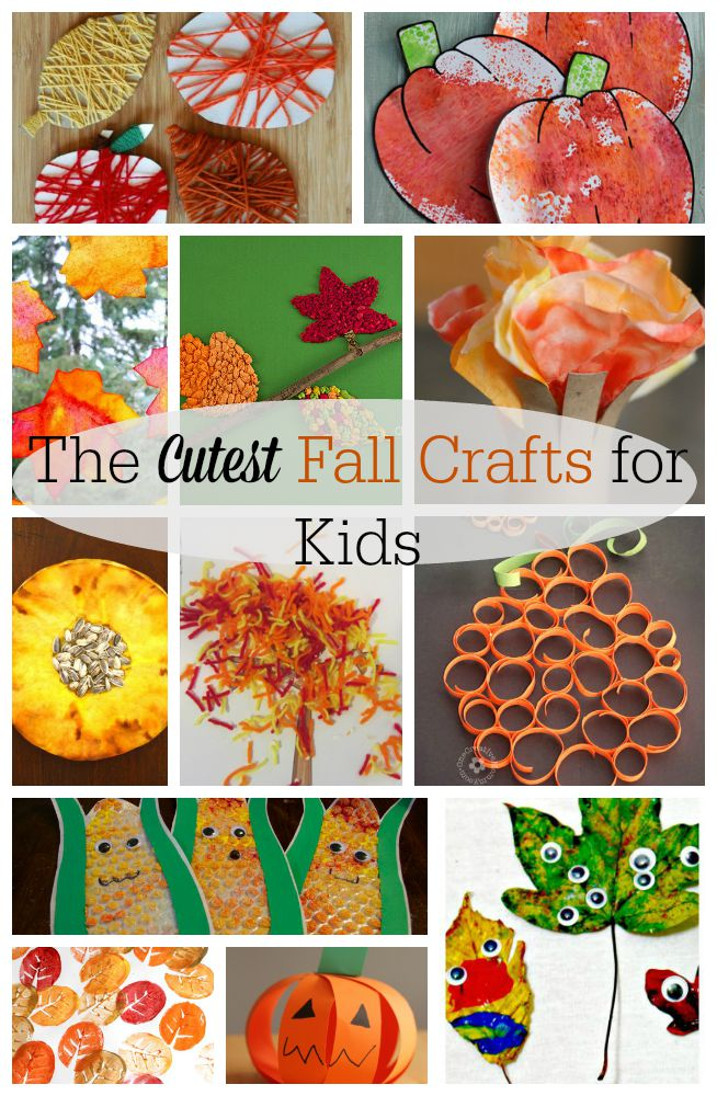 Easy and cute ideas for Fall crafts for kids! Perfect for preschoolers and kids of all ages. #fall #crafts #preschool #cute #easy
