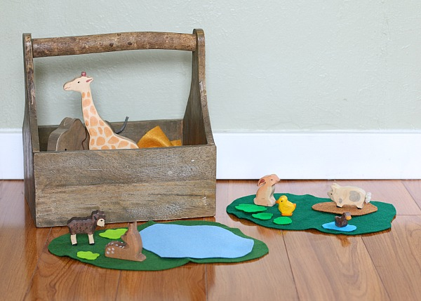 quiet activities for toddlers - felt imaginative play