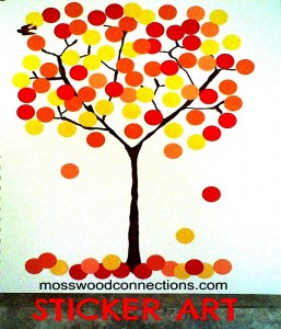 stickers fall tree mosswood