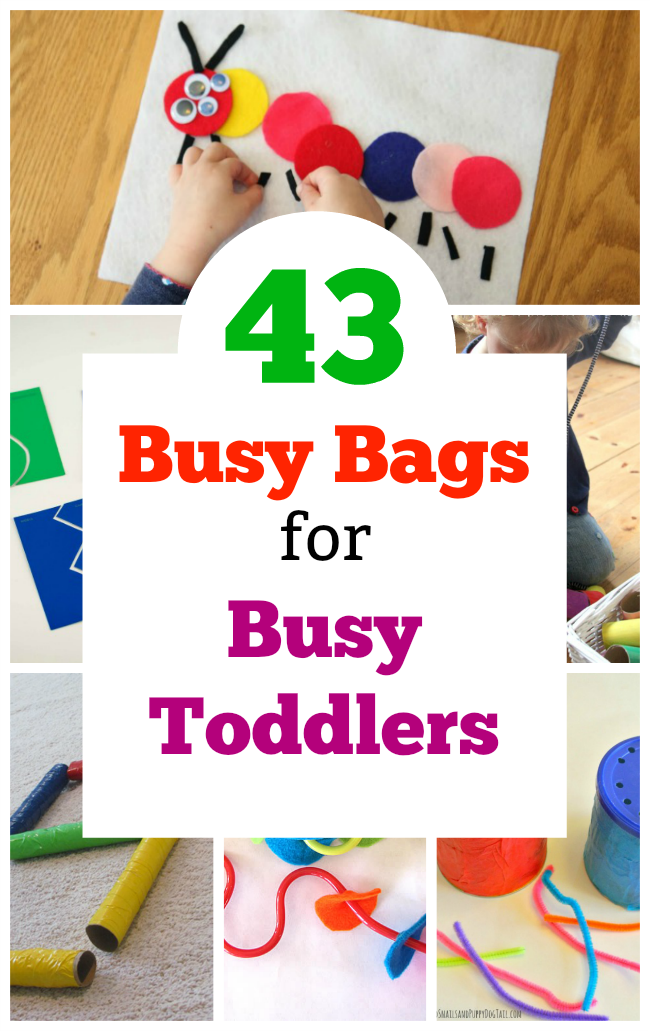 Awesome toddler busy bags! Perfect quiet time activities for two and three year olds. #busybags #quiettime #toddler #twoyearolds #preschooler