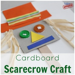 Farm theme activities - cardboard scarecrow