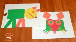 Farm theme activities - color farm shape animals