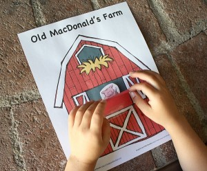 Farm theme activities - farm animal peek a boo