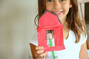 Farm theme activities - farm animal puppet show craft