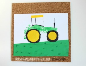 Farm theme activities - footprint tractor